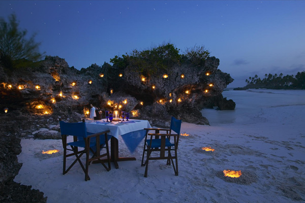 Private dinner at Matemwe Retreat