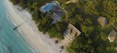 Looking down on Manta Resort