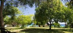 The gardens surrounding Manta Resort