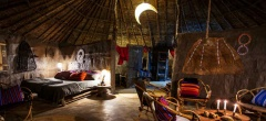 The interior of the rooms at the Masai Lodge