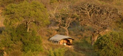 The camp in the Serengeti