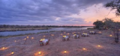 Dinner on the banks of the Ruaha River