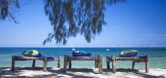 Kinondo Beach - sunbeds