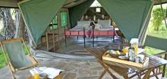 Lake Manze Camp - Inside a tent