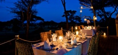 Swala Safari Camp - Dininig outside