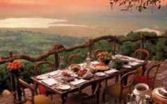 Crater Lodge - dinner view